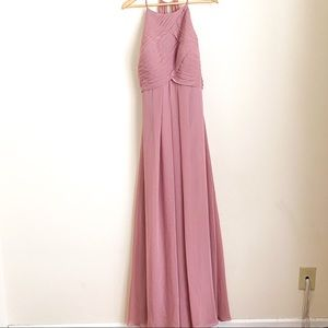 AZAZIE Long Flowy Pleated Chest Bridesmaid Dress